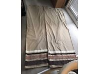 Beige Lined Hand Made Curtains