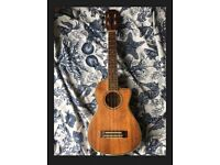 ASHBURY tenor ukelele CK-TEQ, with bag, GOOD COND
