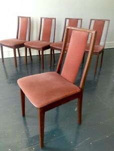 Set of 4 Parker style T-back dining chairs