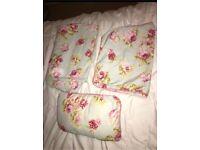 Dunelm floral double bedding