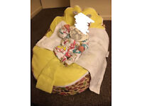 UNISEX LEMON Baby Beanbag with little birds on suitable from Birth -8years excellent condition