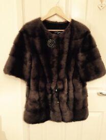Stunning Luxury Russian 100% real Mink fur coat / jacket YSL SAGA LV CL ZARA