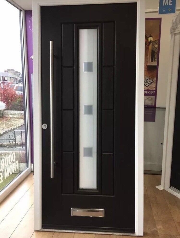 the latest 25791 56e17 Ultimate Vermont Rockdoor Anthracite Black Bar Handle Composite Door  Solidor UPVC Door Front Door | in Kingston, London | Gumtree