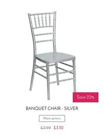 Chair & Table Hire - Prices from 99p