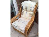 Chairs x 3 plus nest of tables suitable for conservatory