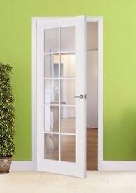 WHITE BEADING DOORS- PRE-FINISHED