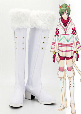 A3! Rurikawa Yuki Cosplay Kostüm Costume Schuhe Shoe Stiefel boot white Weiß (Weiße Kostüm Schuhe)
