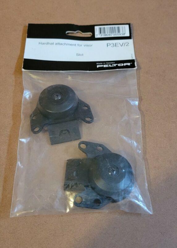 (LOT OF 10) 3M PELTOR Hard Hat Adapter for Visors P3EV/2