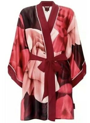 Ted Baker Porcelain Rose Kimono Dressing Gown New With Tags Size 16-18