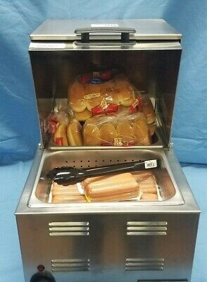 Commercial Countertop Hot Dog And Bun Warmer-steamer - New 115v