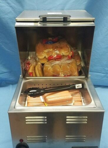 Commercial Countertop Hot Dog and Bun Warmer-Steamer - NEW! 115V