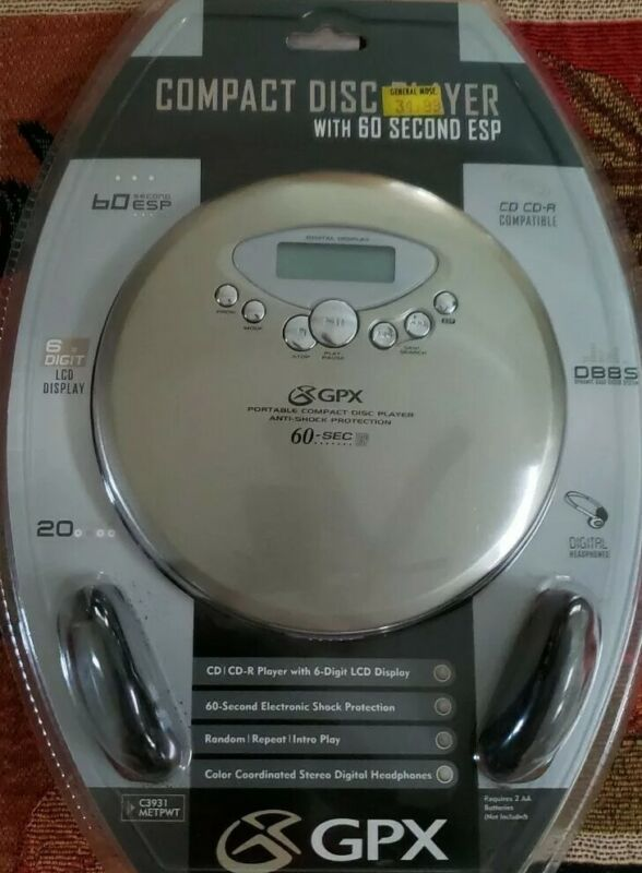 NEW SEALED - GPX Portable Compact Disk Player Shock Protection C3931
