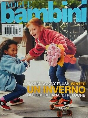 Vogue Bambini Jul Aug 2015 Floral Wooly Plush Winter Un Inverno FREE SHIPPING sb
