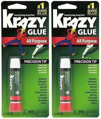 6 Packs Krazy Glue Original Super Strong Fast All Purpose Precision Tip Instant