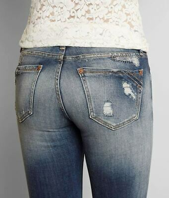 Black No Back Pocket Jeans (NEW Buckle Black Fit No. 53 Skinny Pieced back pockets Jean BBW5401 sz 25 x)