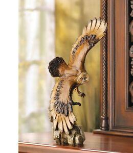 Soaring American Bald Eagle Statue Nature Wildlife Figurine Eagle Sculpture