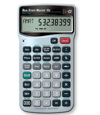 Calculated Ind. Real Estate Master IIIx Financial Calculator 3405