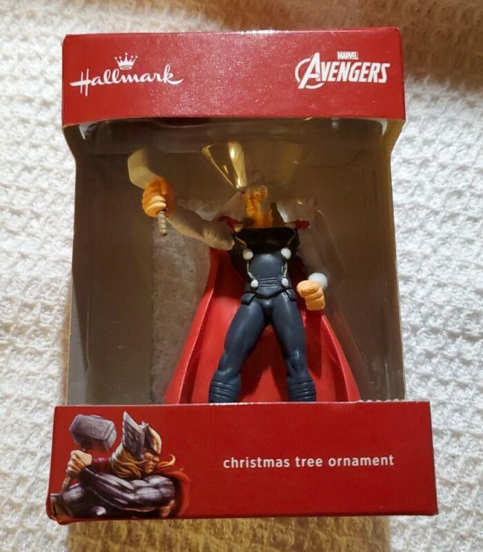 2020 Hallmark Red Box Marvel Avengers Thor Christmas Tree Ornament - NEW