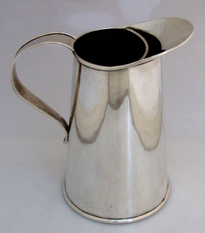 Martini Pitcher Cartier Arts and Crafts Sterling Silver Hand Made 1930