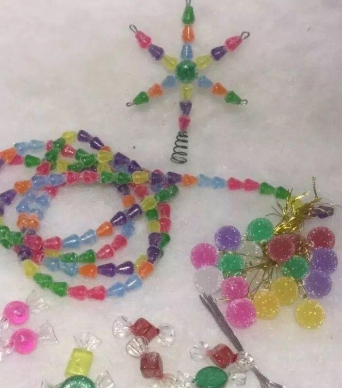 Miniature Candy Gumdrop, Topper, Garland, Ornaments Christmas Mix Lot