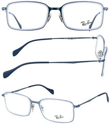 New RAY BAN Frames Titanium Mens Eyeglasses RB6298 2755 53 19 145 Made in (Ray Ban Prescription Eyeglasses)