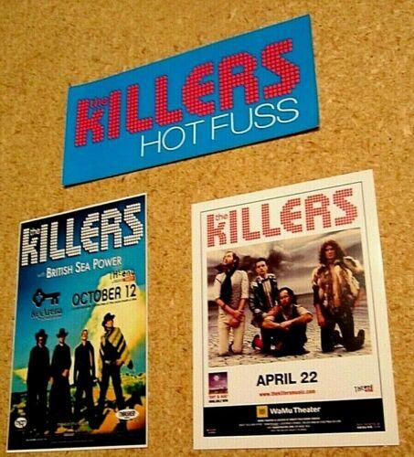 Killers ~ Lot Sticker and Seattle Concert Handbills