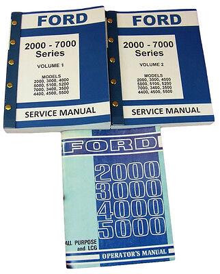 Lot Ford 3000 4000 Series Tractor Service Repair Shop Operators Owners Manuals