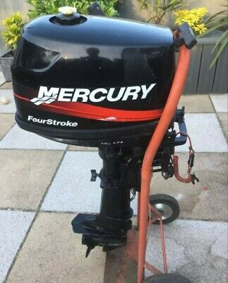 Outboard motor Mercury 4 hp short shaft 4 stroke.