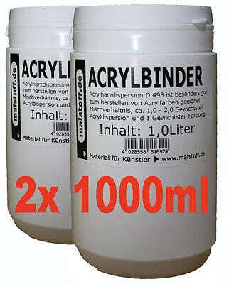 Acrylbinder 2x1 Liter für Acrylfarben oder Lasuren (8,49€/L)