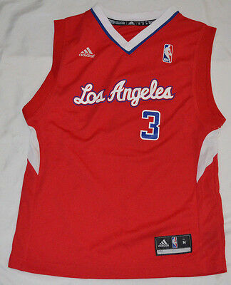 NBA Los Angeles Clippers Chris Paul #3 Youth Replica Road Jersey Small Red ()