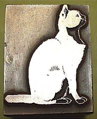 """CAT"" (SITTING) PRINTING BLOCK."