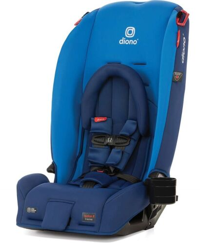 Diono Radian 3 RX All-in-One Convertible + Booster Child Safety Car Seat Blue