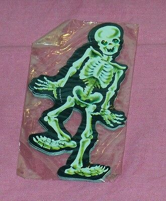 vintage Dennison Halloween small SKELETON cutouts in sealed package