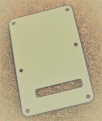 Fender American Special Stratocaster 3 Ply Parchment Tremolo Back Cover & Screws