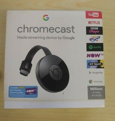 Google Chromecast (2nd Generation) Media Streamer - Black USED BOXED