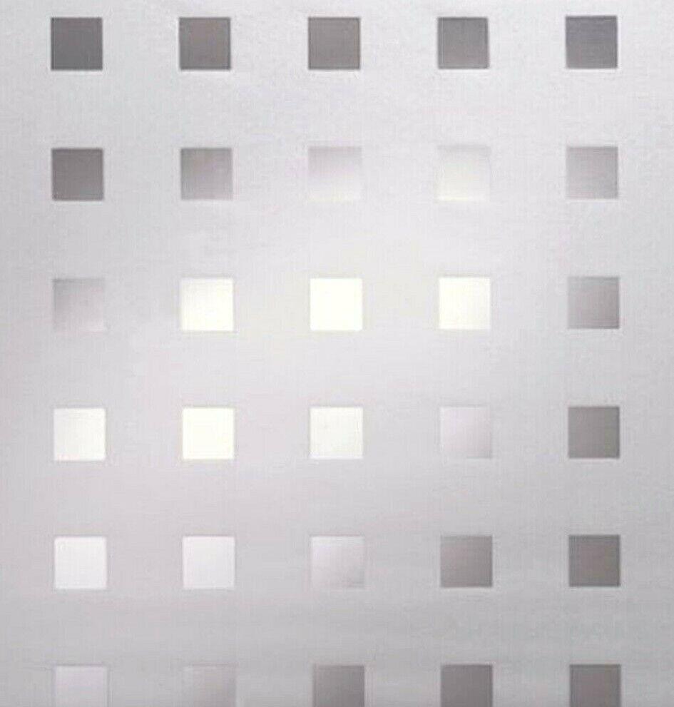 4,43€/m² Fensterfolie Sichtschutzfolie Glasfolie mit Sonnenschutz Quadrate Caree