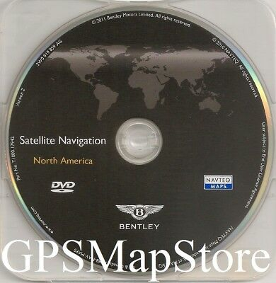 2012 to 2014 Bentley Continental GT GTC Flying Spur Navigation DVD US Canada Map
