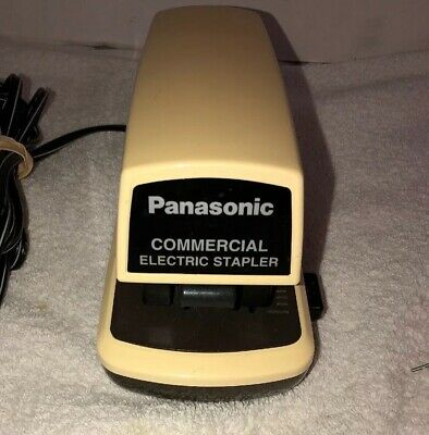 Panasonic As-300n Automatic Commercial Electric Stapler Tested Working 25 Pages