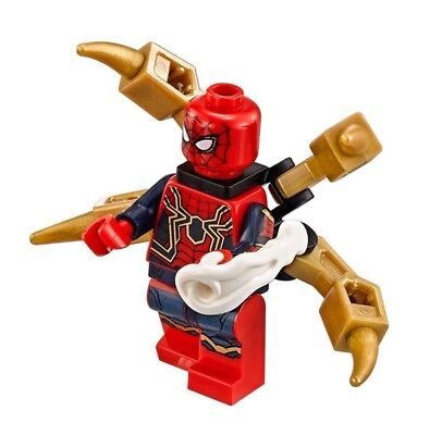 Lego  76108  Iron Spider Minifigure   Avengers Infinity War Spider Man Sanctum