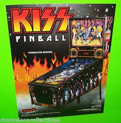 KISS Premium Pinball Machine FLYER 2015 Original NOS Glam Rock & Roll Art Stern
