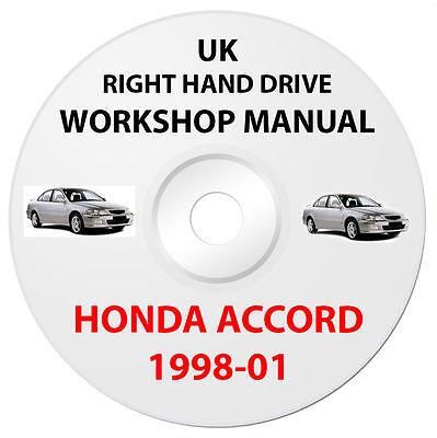 HONDA ACCORD Sept 1998 to 2001 SERVICE REPAIR WORKSHOP MANUAL CD. Easy Install