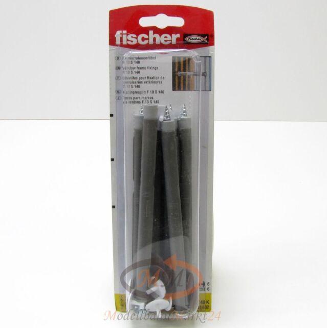 2 x FISCHER Dübel 88632 Fensterrahmendübel F 10 S 140 K VPE = 6 Stück - NEU