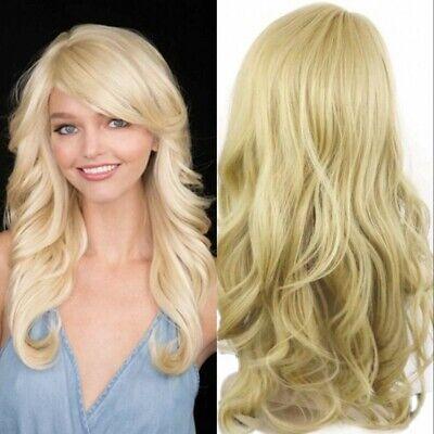 Mode Damen Lang Blond Haare Gewellt Perücke Frisur - Blonde Mod Perücke