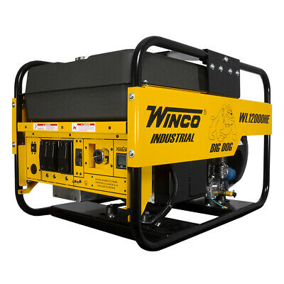 Winco Wl12000he Electric Start 12kw Starting - 10.8kw Running 15 Gal. Fuel Tank