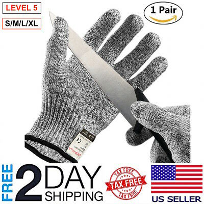 Cut Resistant Gloves Level 5 Safety Kitchen Cutting Wood Carving 1 Pair Smlxl
