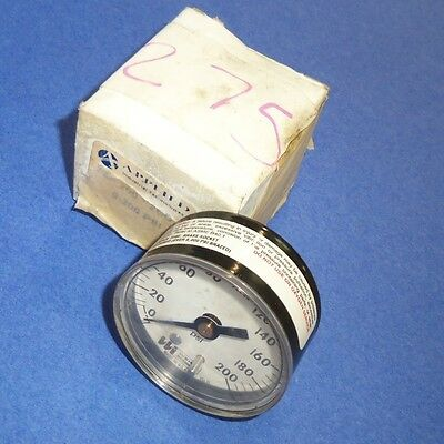 Applied Technologies 200Psi  1 4 Npt  Pressure Gauge 20 200 2Bd  New