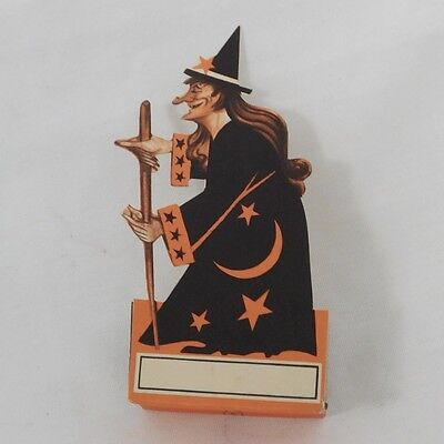Halloween Table decoration Scary Witch place card nut cup Denmark 1960's Mint