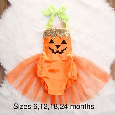 Baby Girl pumpkin costume size 24  month /2 years Old Kid](24 Month Old Costumes)