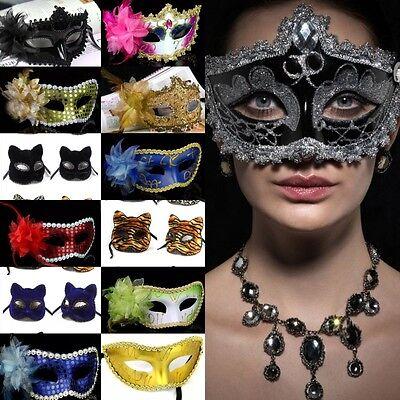 Aufwendig Gesichtsmaske Augenmaske Blume Spitzen - Karneval Venezianische Maske Feder