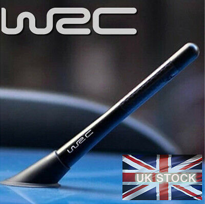 WRC Carbon Fibre Aerial Antenna Fits Ford VW 12cm Styling AM FM Universal Mount